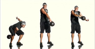 Упражнения с гирей 16 кг