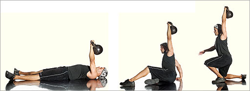упражнения с гирей 24 кг