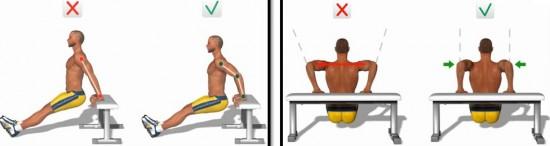 Правильное выполнение упражнения
