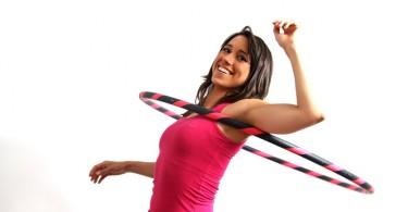 Упражнение с обручем для талии