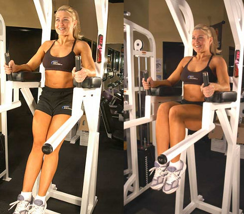Упражнение Уголок в стойке для подтягивания