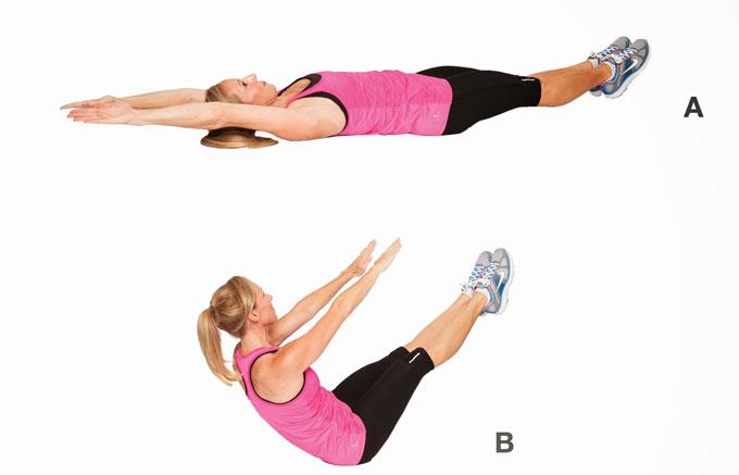 Упражнение для пресса и спины Буква V