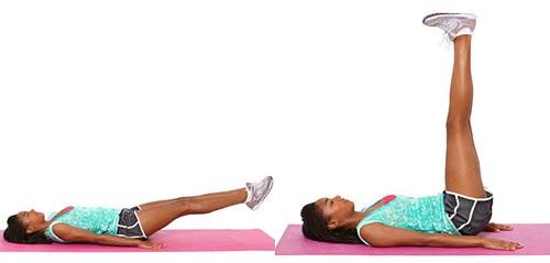 Упражнение Подъем ног лежа