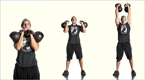 упражнения с гирями в картинках
