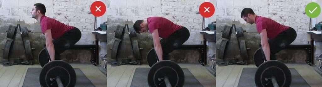 как правильно держать спину в становой тяге