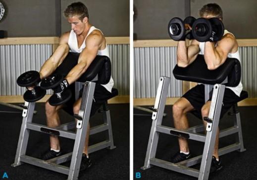Варианты выполнения упражнения на скамье Скотта